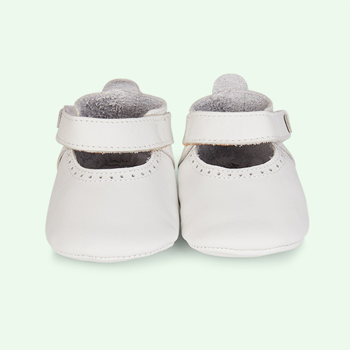 White Bobux Delight Soft Sole Mary Jane