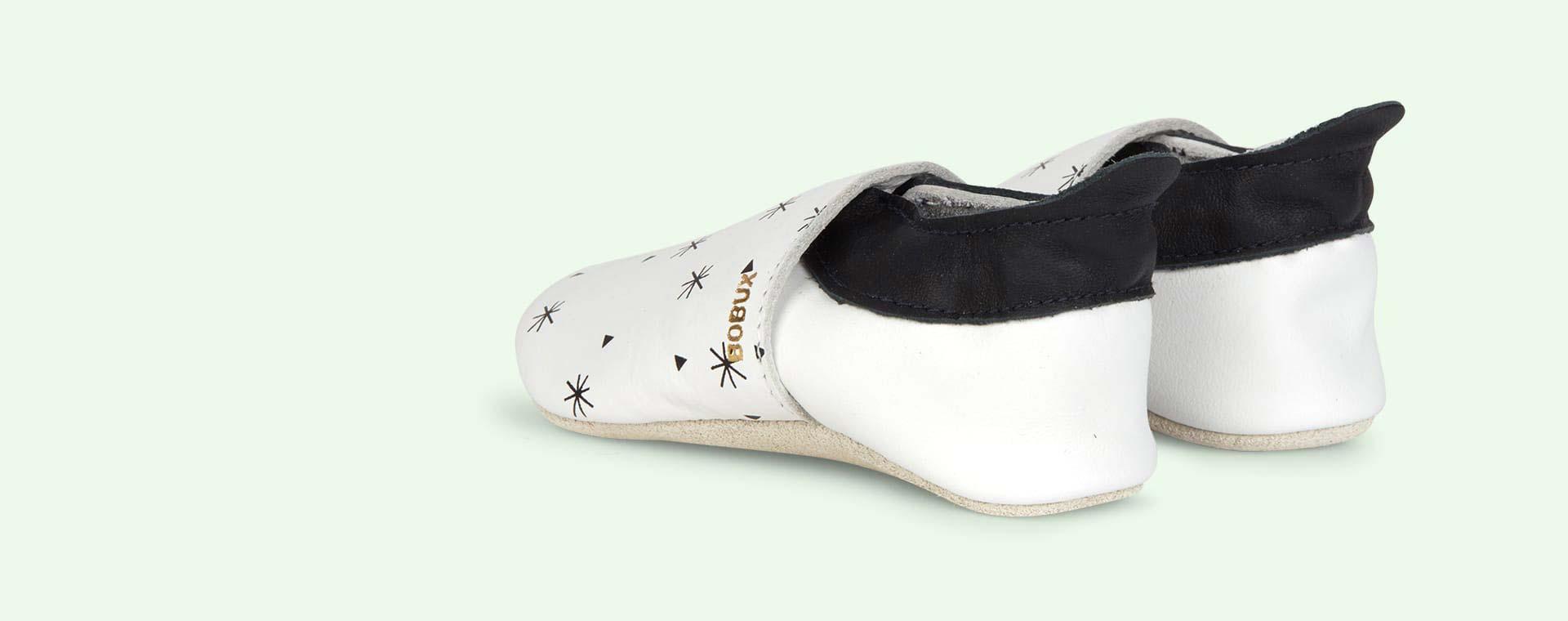 White Bobux Snowflakes Soft Sole