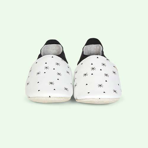 White Bobux Snowflakes Soft Sole