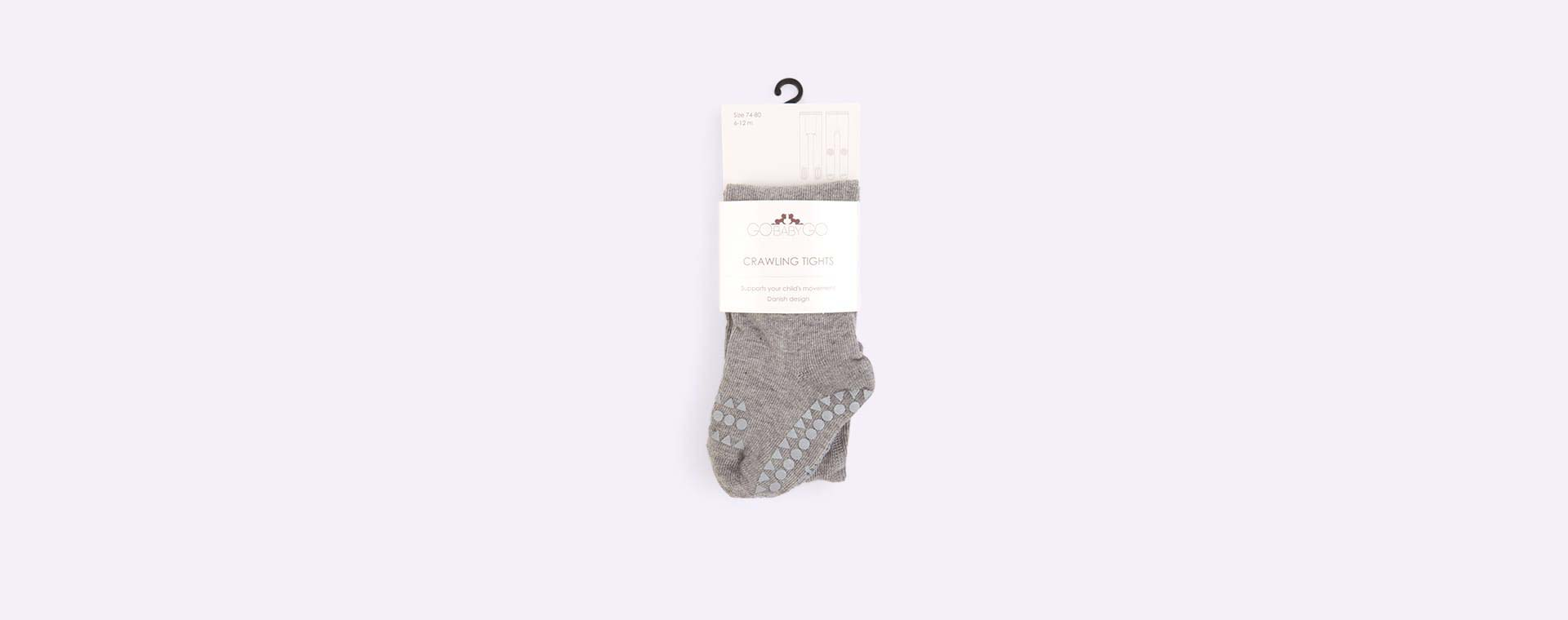 Grey Go Baby Go Crawling Tights