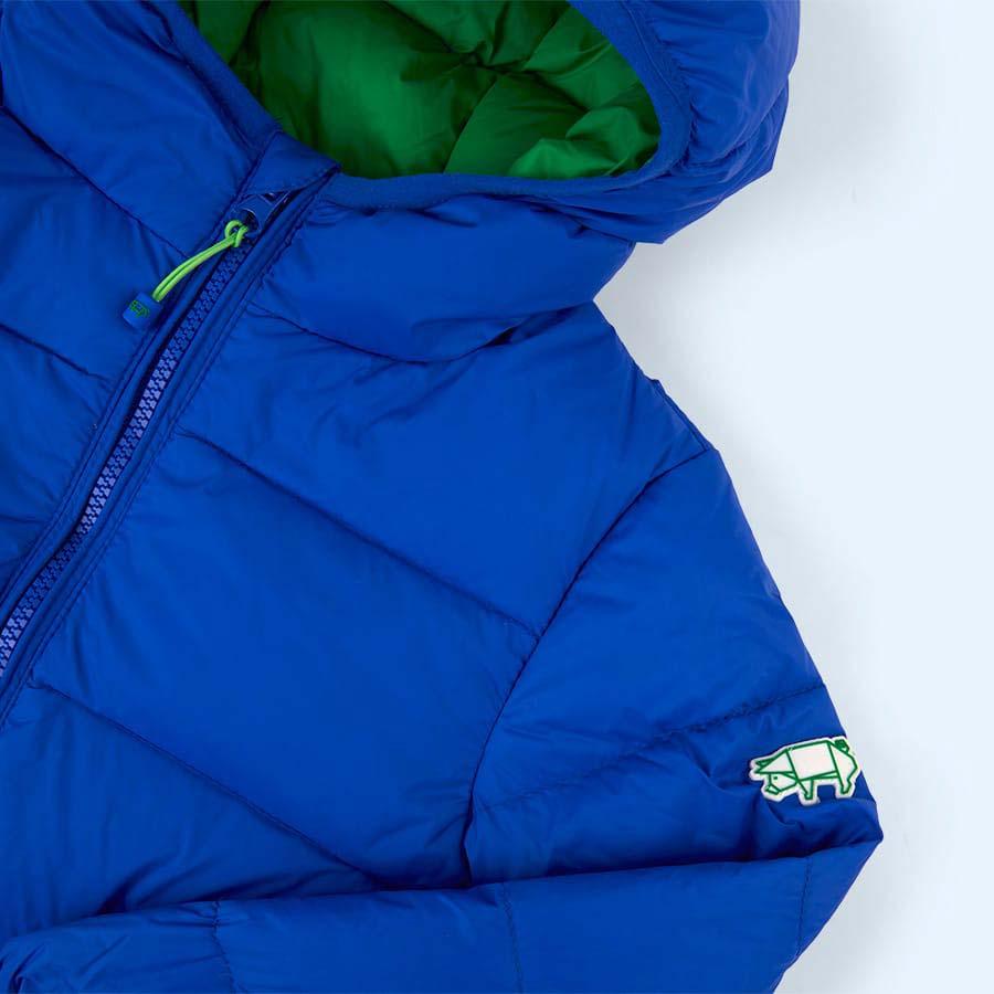 Cobalt / Emerald Green Toastie Pig Puffer Jacket