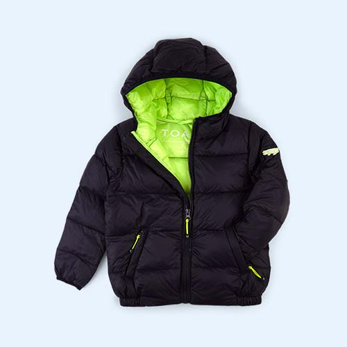 Navy / Fluro Lime Toastie Pig Puffer Jacket