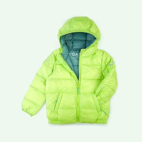 Lime / Cloud blue Toastie Pig Puffer Jacket