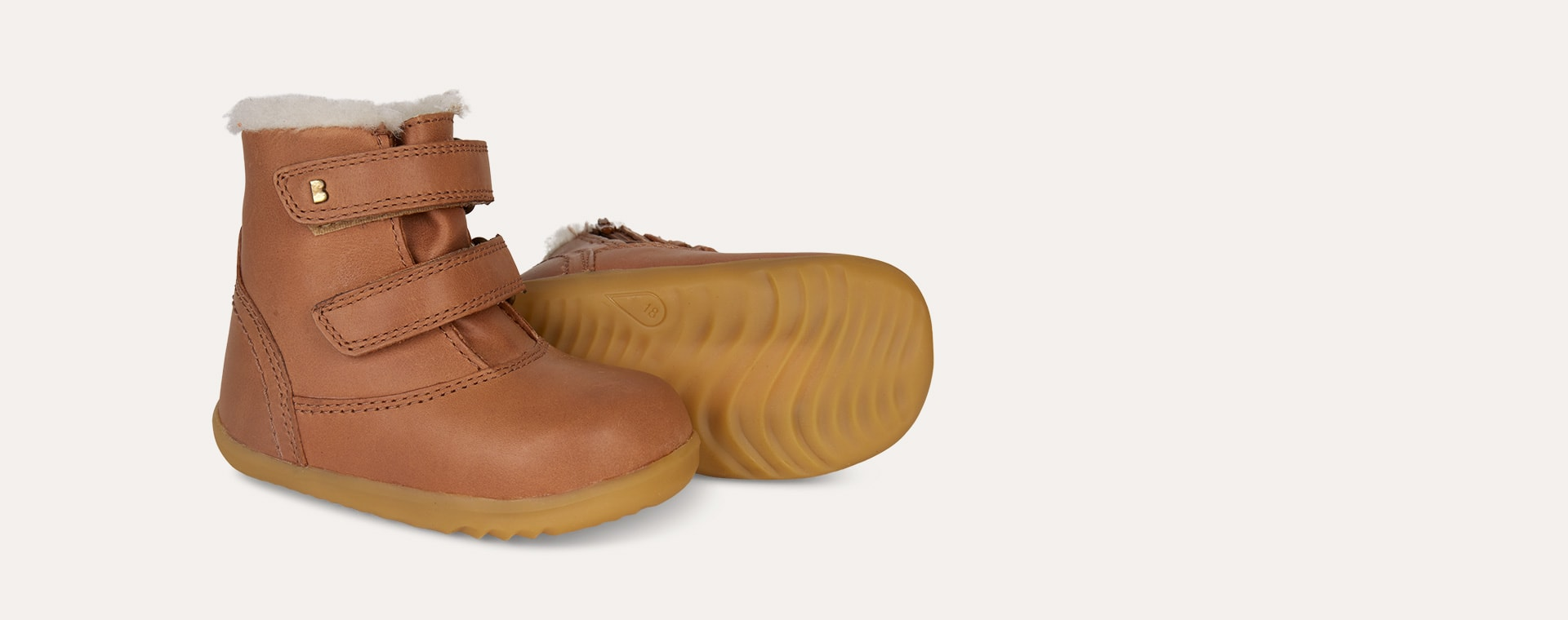 Caramel Bobux Aspen Lined Step-Up Boot