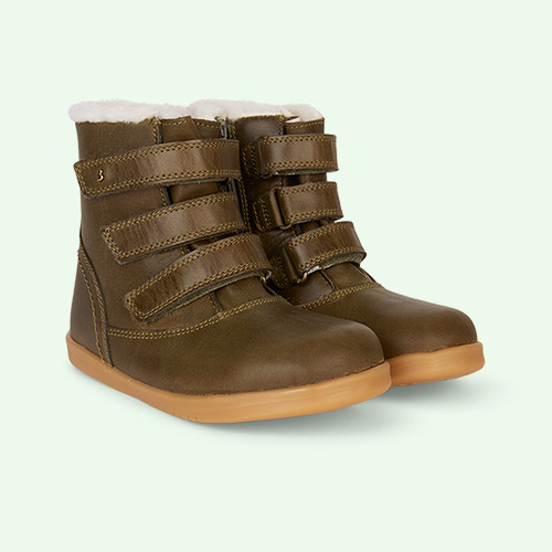 Olive Bobux Aspen Lined Kid+ Boot