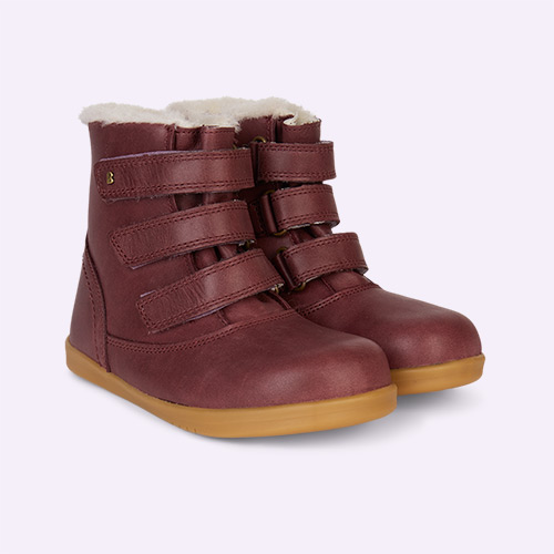 Plum Bobux Aspen Lined Kid+ Boot
