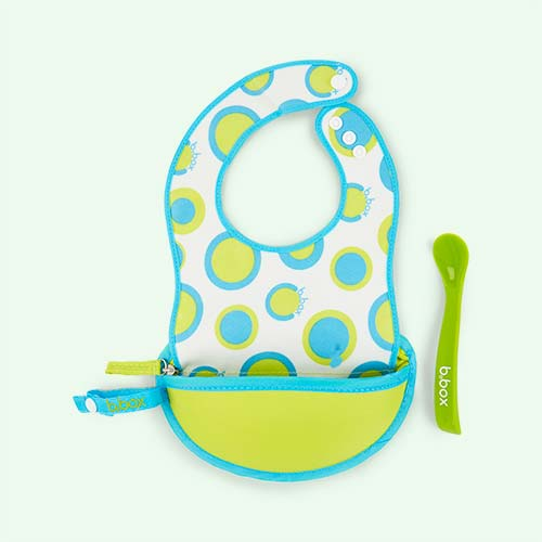 Retro Circles b.box Travel Bib & Flexi Spoon