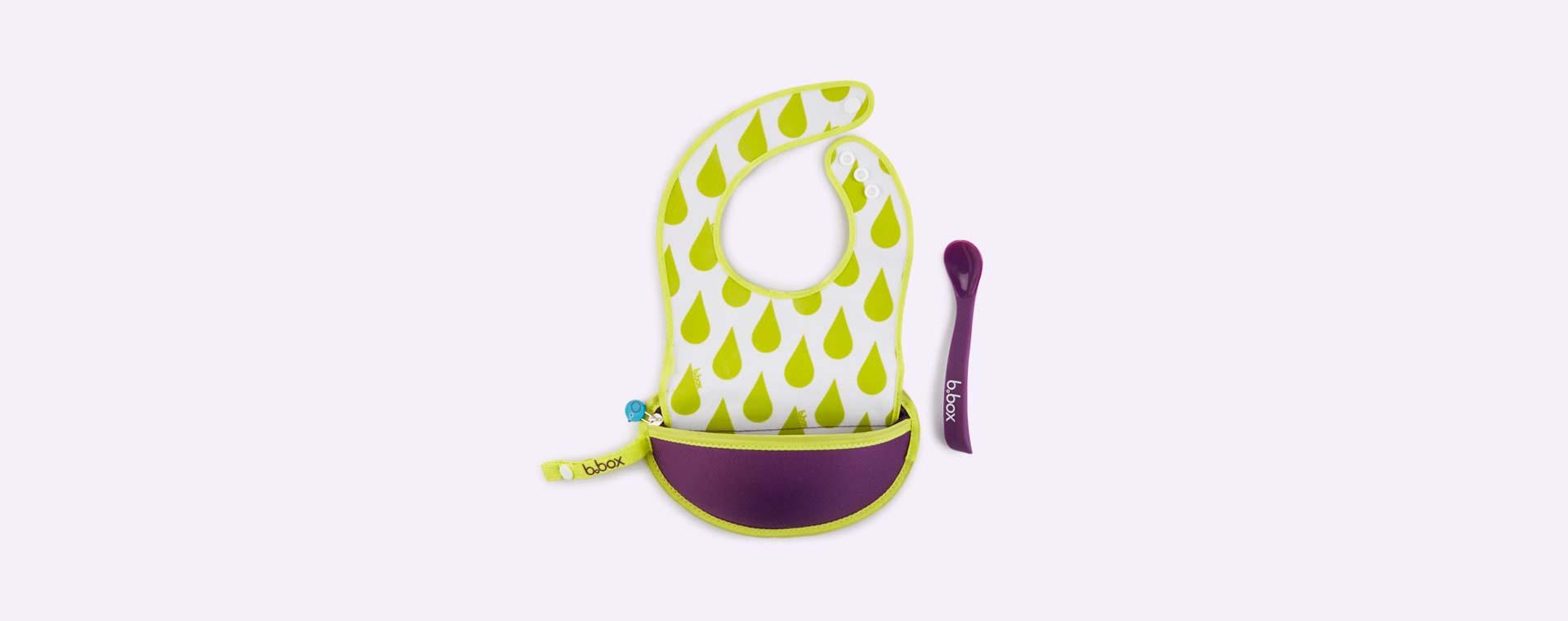 Splish Splash b.box Travel Bib & Flexi Spoon