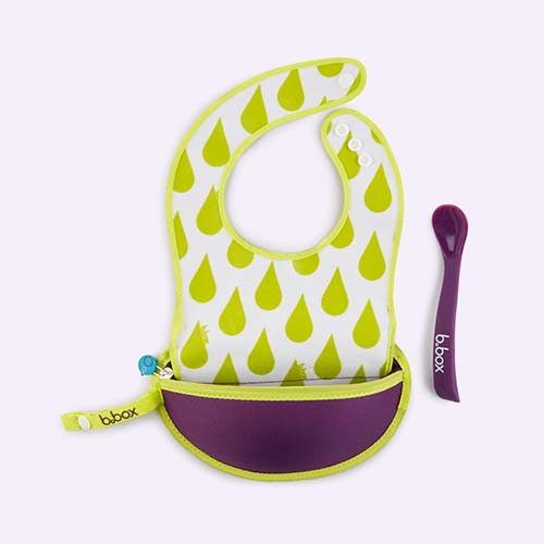 Splish Splash b.box Travel Bib & Flexi Spoon