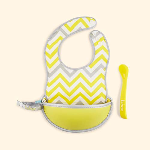Mellow Yellow b.box Travel Bib & Flexi Spoon