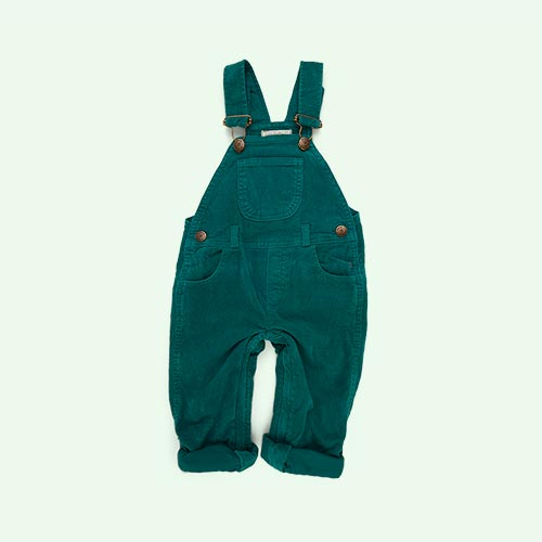 Grass Green Dotty Dungarees Corduroy Dungarees
