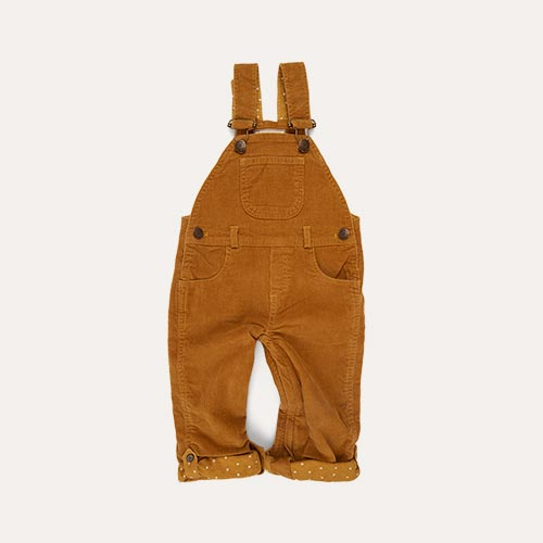 Dk Ochre Dotty Dungarees Corduroy Dungarees