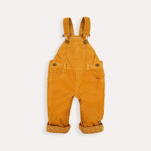 Ochre Dotty Dungarees Corduroy Dungarees