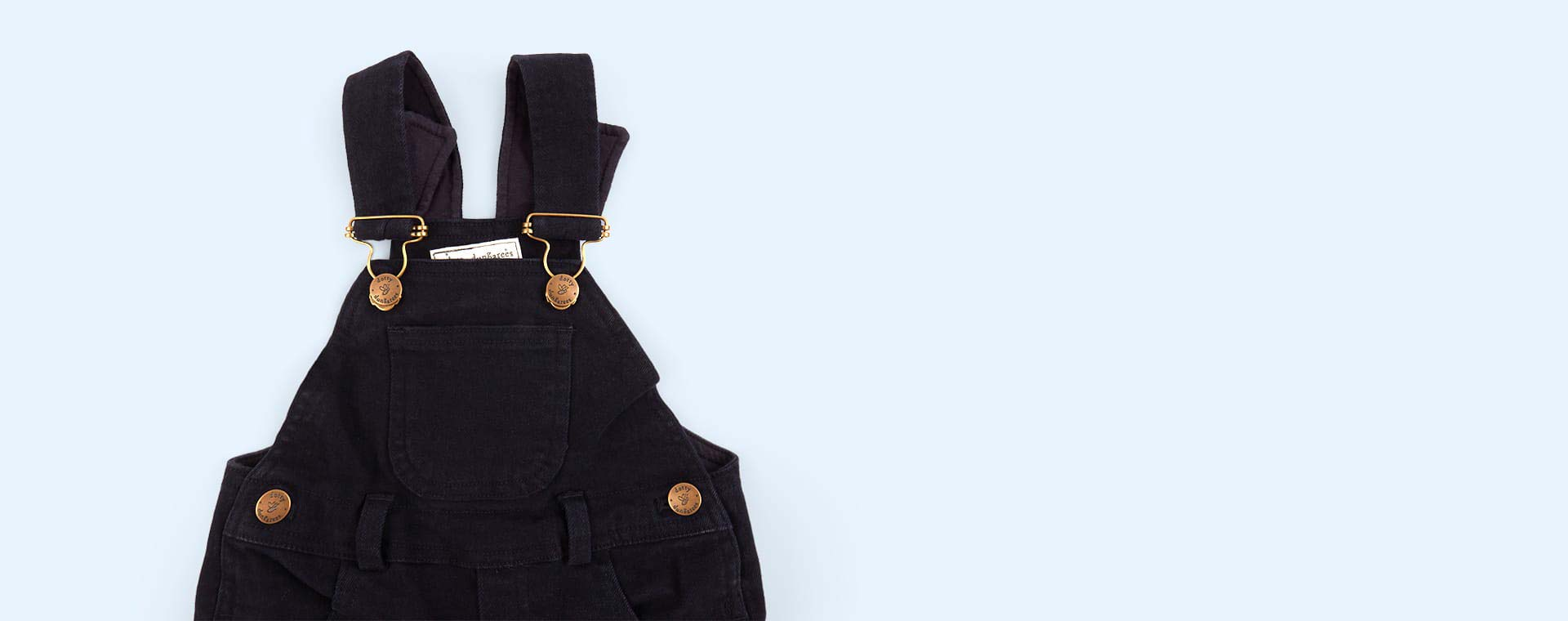 Ink Dotty Dungarees Brushed Twill Dungarees
