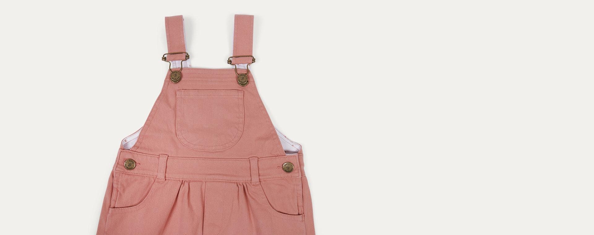 Arizona Pink Dotty Dungarees Brushed Twill Dress