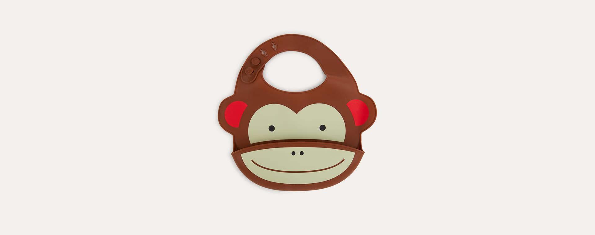Monkey Skip Hop Silicone Bib