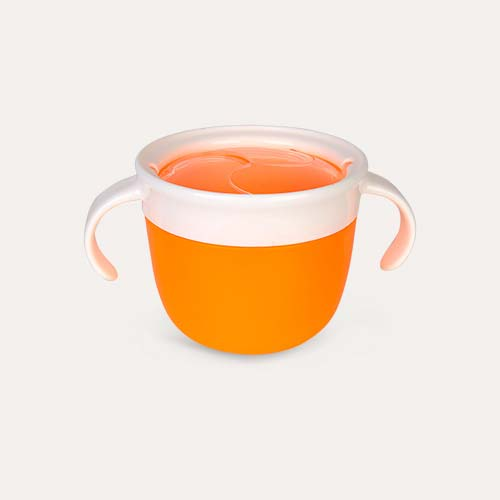 Orange Munchkin Click Lock Deluxe Snack Catcher