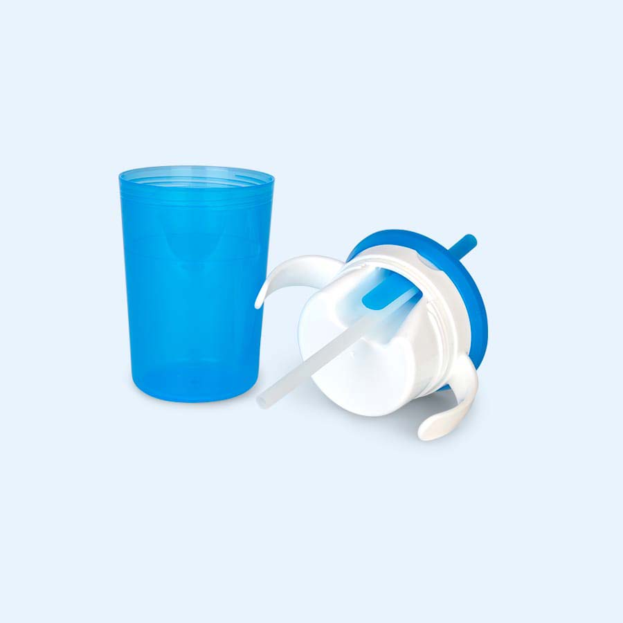 Blue Munchkin Munchkin Sippy Straw Cup and Snack Catcher