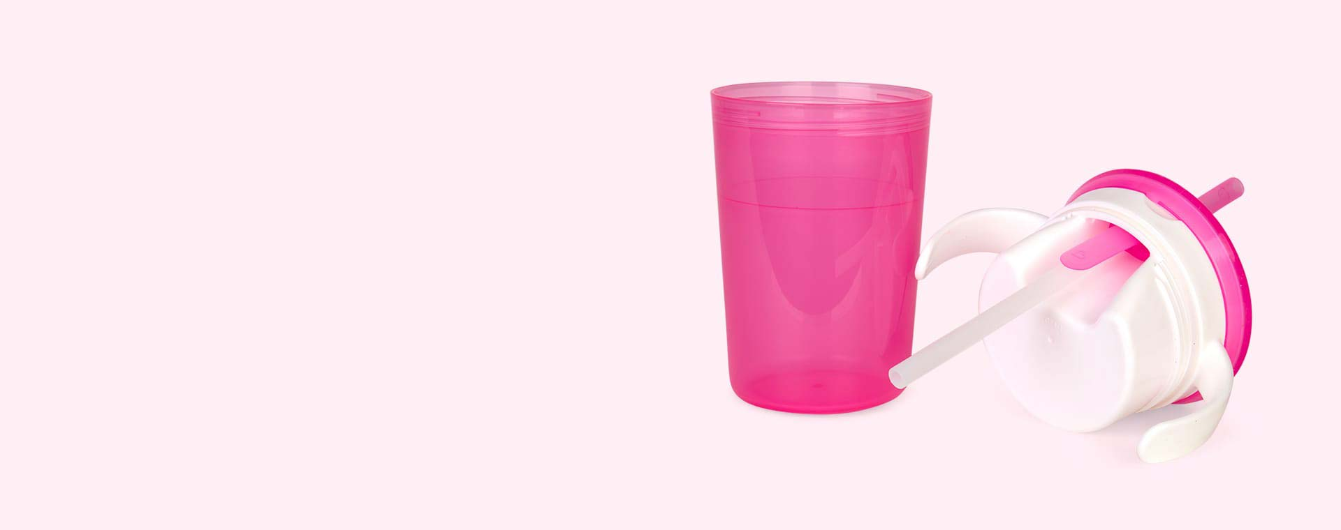 Pink Munchkin Munchkin Sippy Straw Cup and Snack Catcher