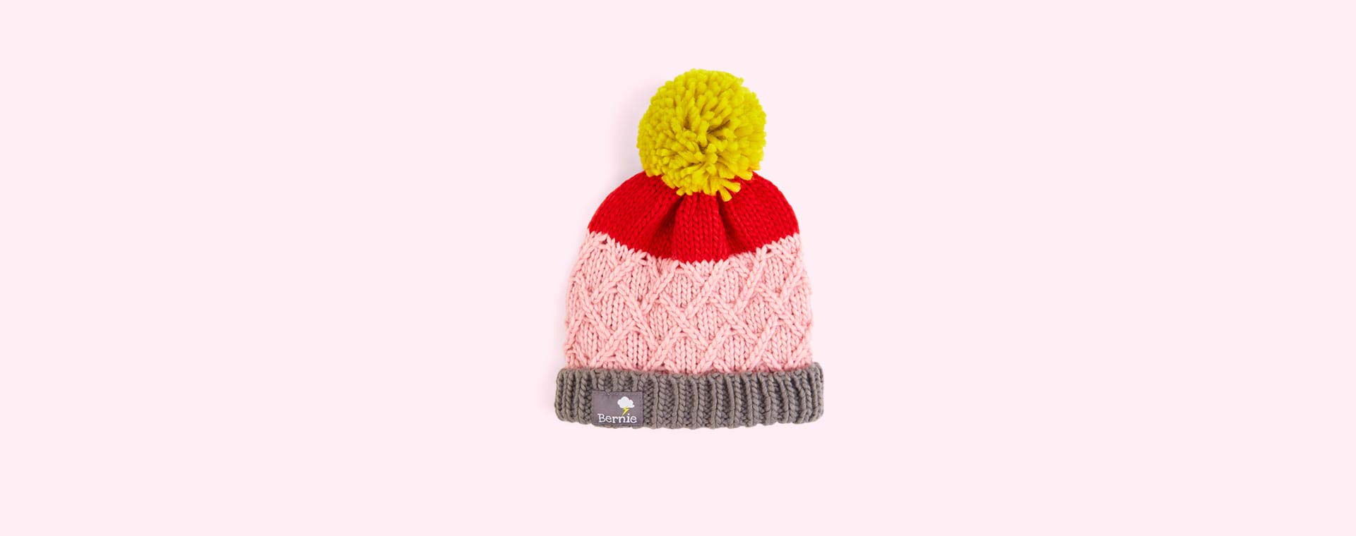 Pink Cross Bernie and The Beanpole Bobble Hat