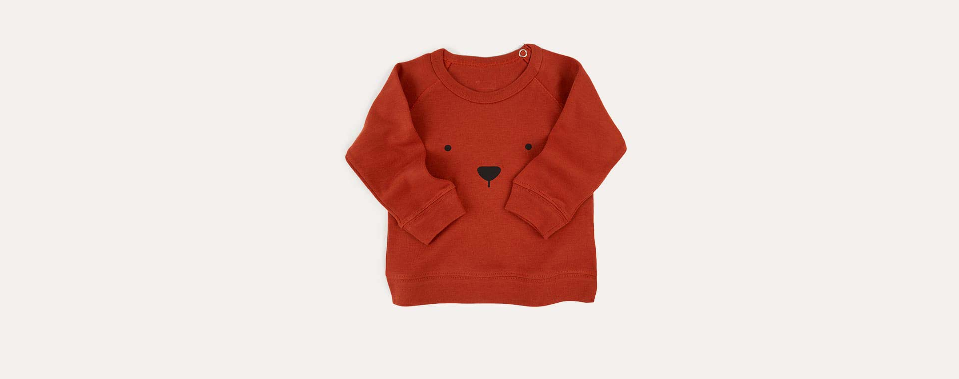 Rust Organic Zoo Bear Sweatshirt