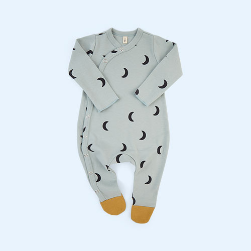 Midnight Cloud Organic Zoo Sleepsuit