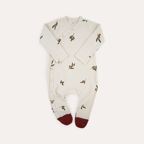 Olive Tree Organic Zoo Sleepsuit