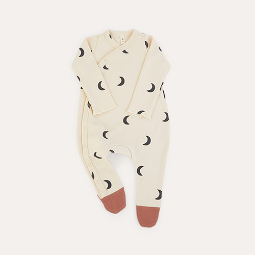 Pebble Midnight Organic Zoo Sleepsuit