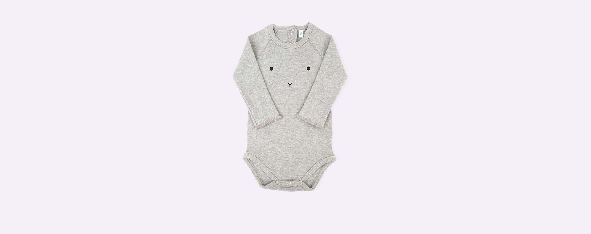 Grey Bunny Organic Zoo Bodysuit