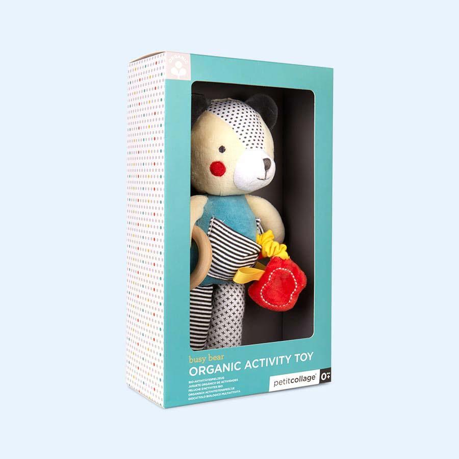 Oaty Bear Petit Collage Organic Activity Toy