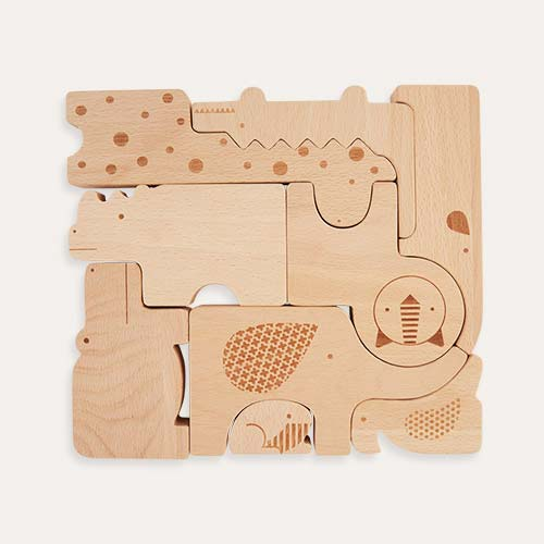 Wooden Petit Collage Wooden Puzzle & Play Set