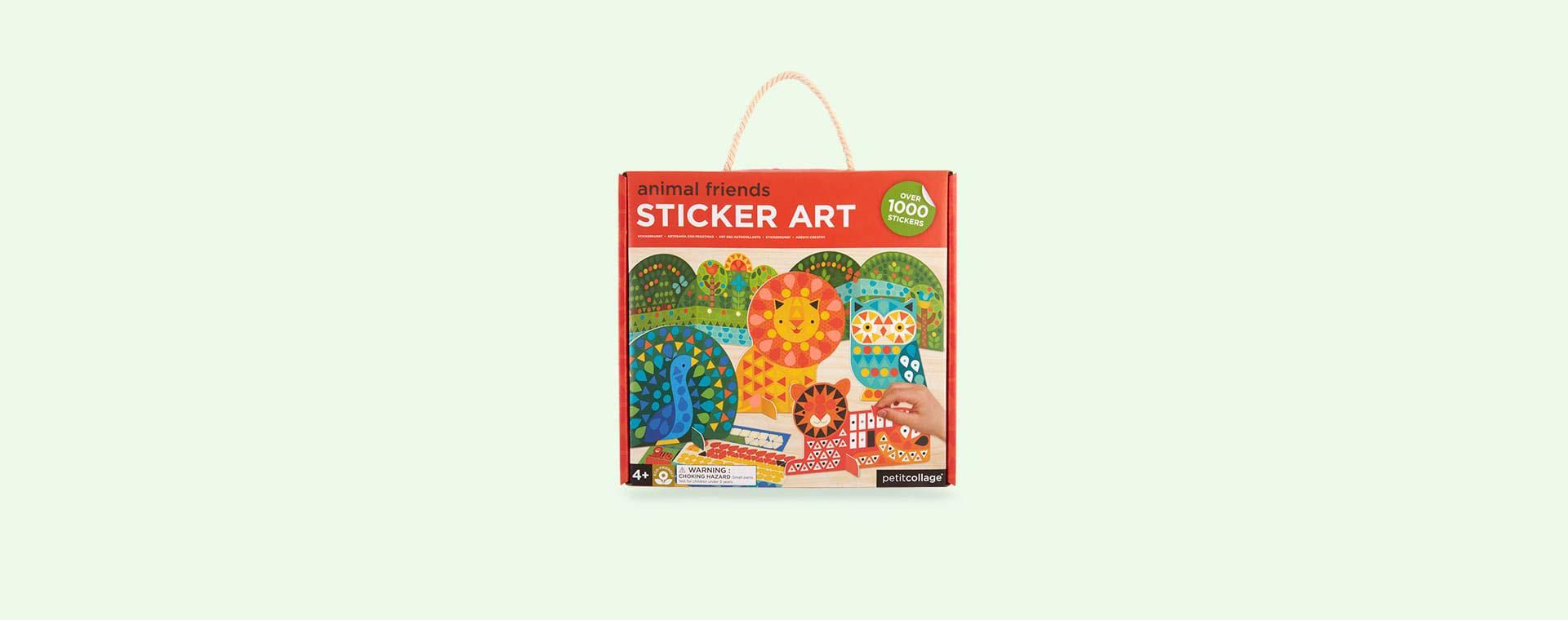 Animals Petit Collage Sticker Art Animals