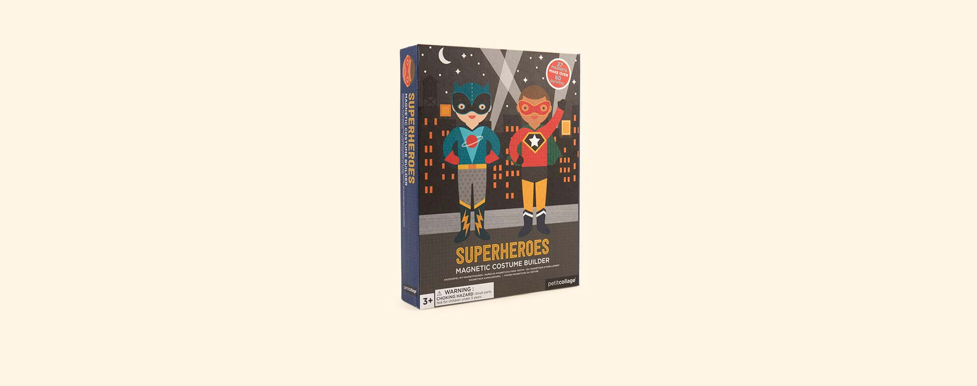 Superheroes Petit Collage Magnetic Dress Up Kit