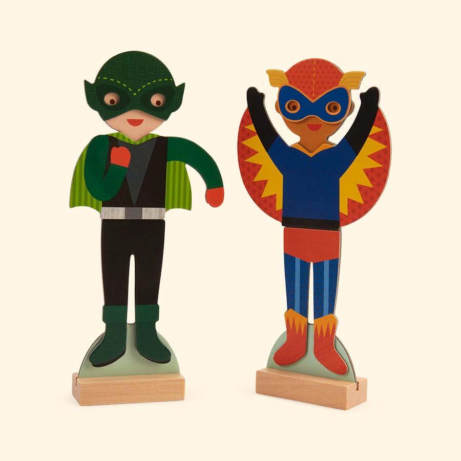Superheroes Petit Collage Magnetic Dress Up Kit