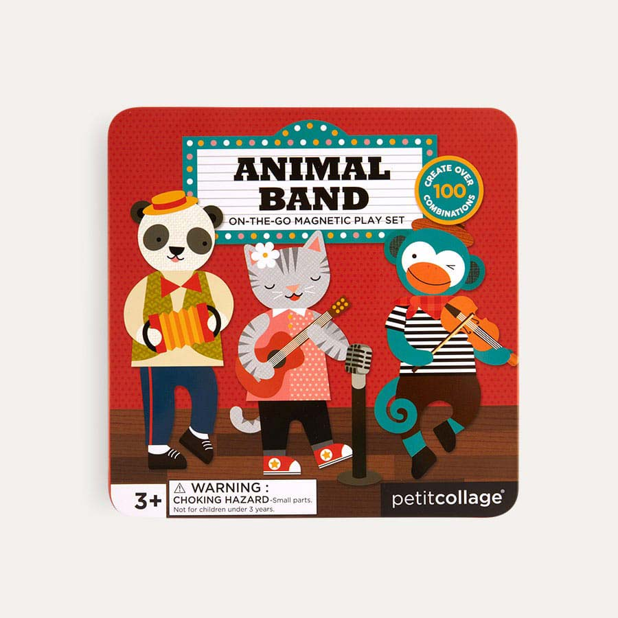 Animal Band Petit Collage On The Go Magnetic Tin