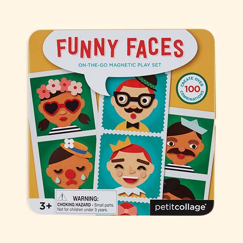 Funny Faces Petit Collage On The Go Magnetic Tin