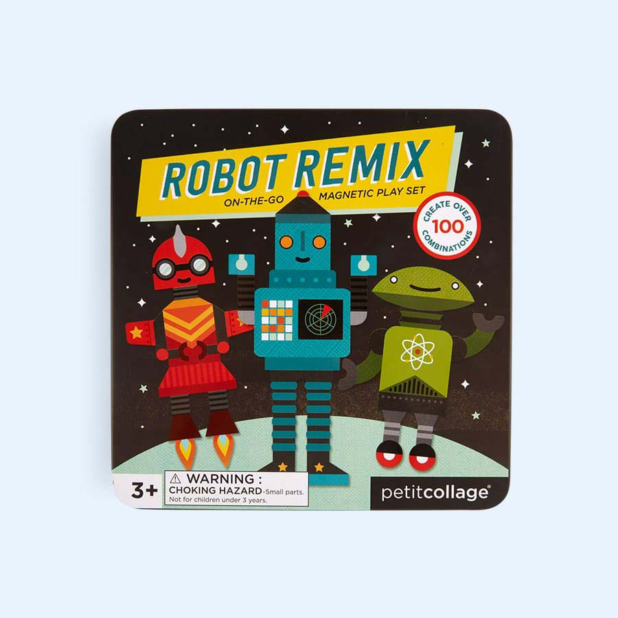 Robot Petit Collage On The Go Magnetic Tin