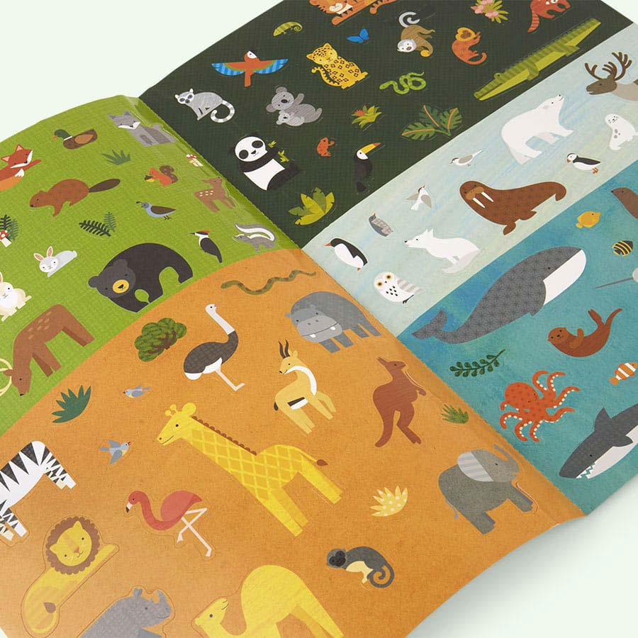 Animal World Petit Collage Sticker Activity Set