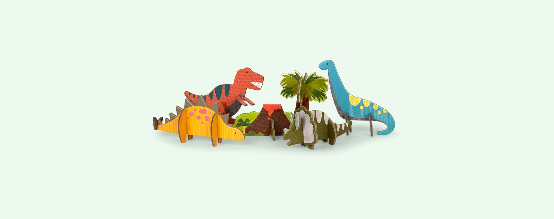 Dinosaur Petit Collage Pop-Out and Build Set