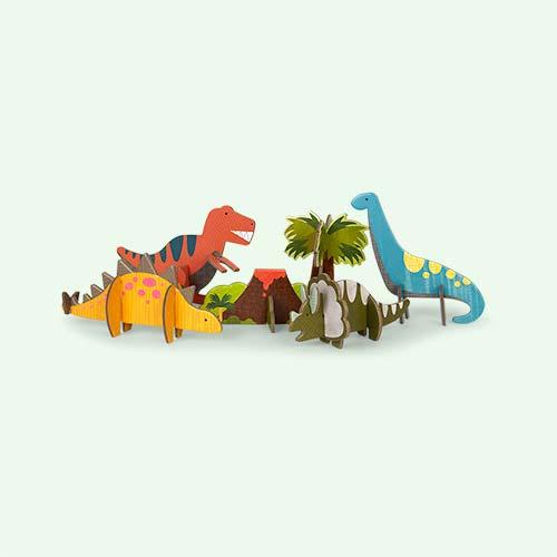 Dinosaur Petit Collage Pop-Out and Build Set
