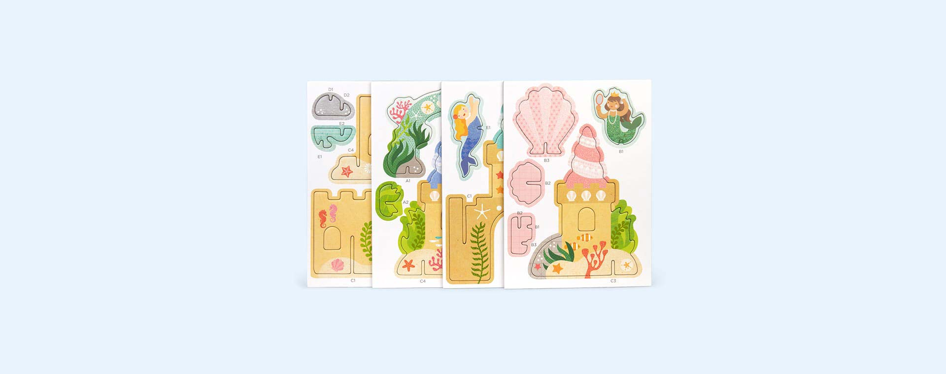 Mermaid Castle Petit Collage Pop-Out and Build Set