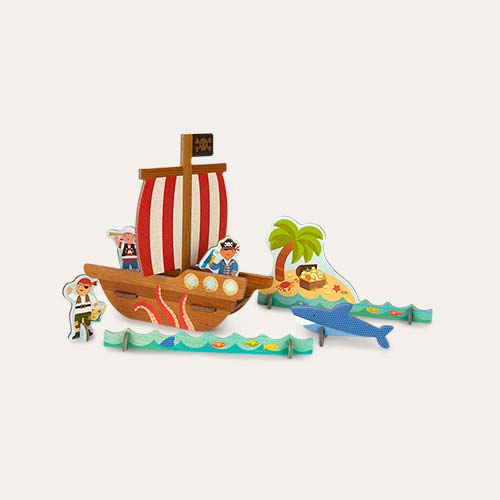 Pirate Ship Petit Collage Pop-Out and Build Set