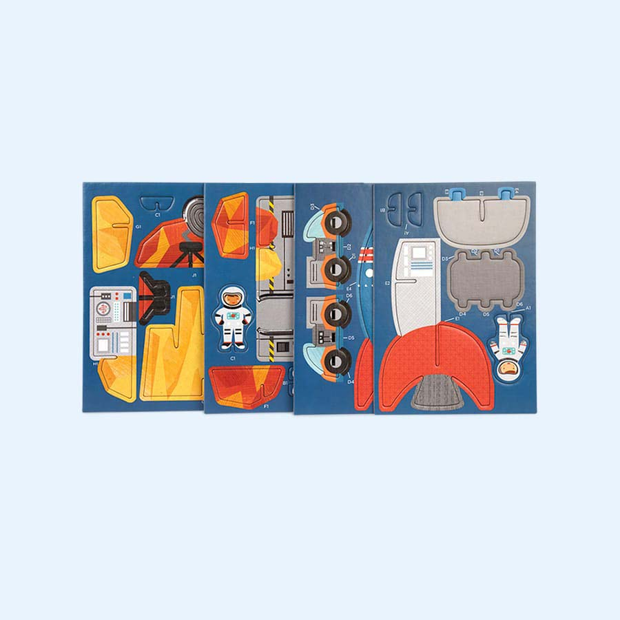 Space Petit Collage Pop-Out and Build Set