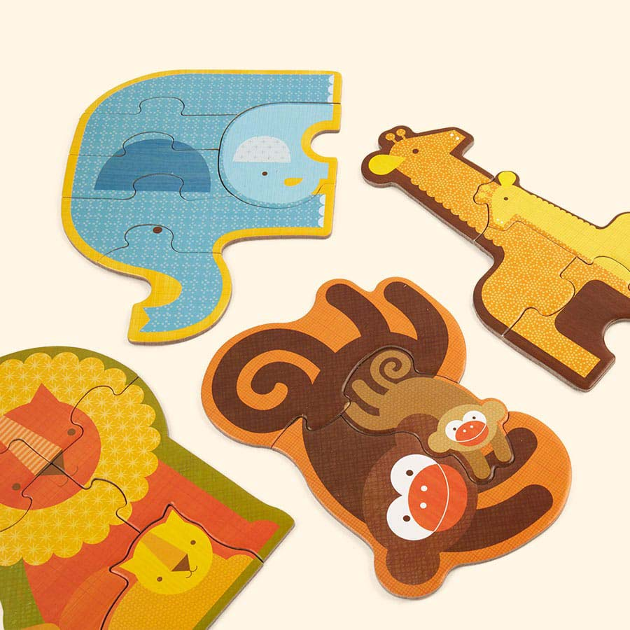Safari Babies Petit Collage Beginner Puzzle