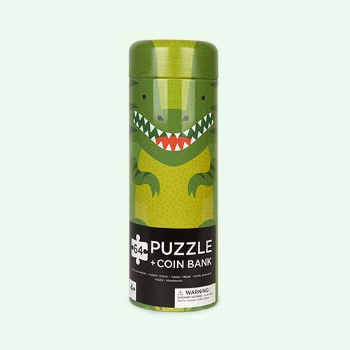 Dinosaur Petit Collage Tin Cannister Puzzle