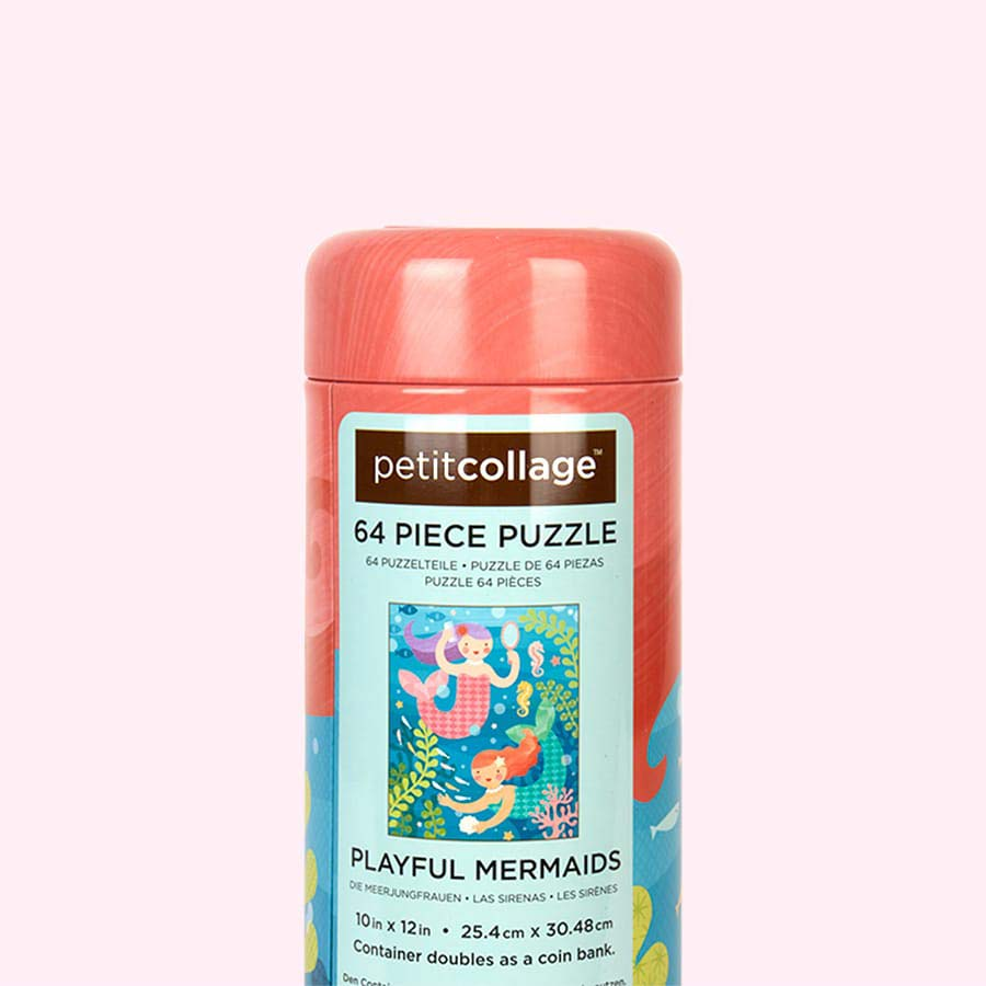 Mermaids Petit Collage Tin Canister Puzzle