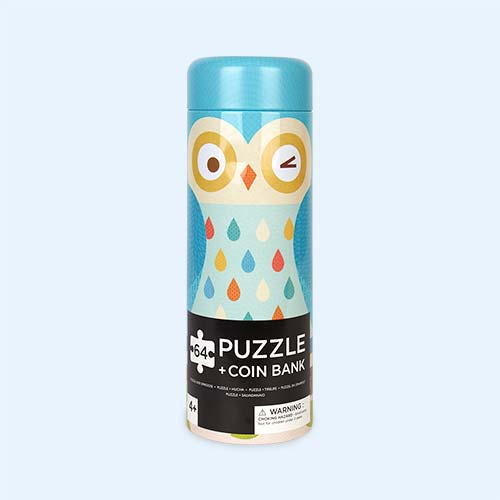 Owl Family Petit Collage Tin Cannister Puzzle