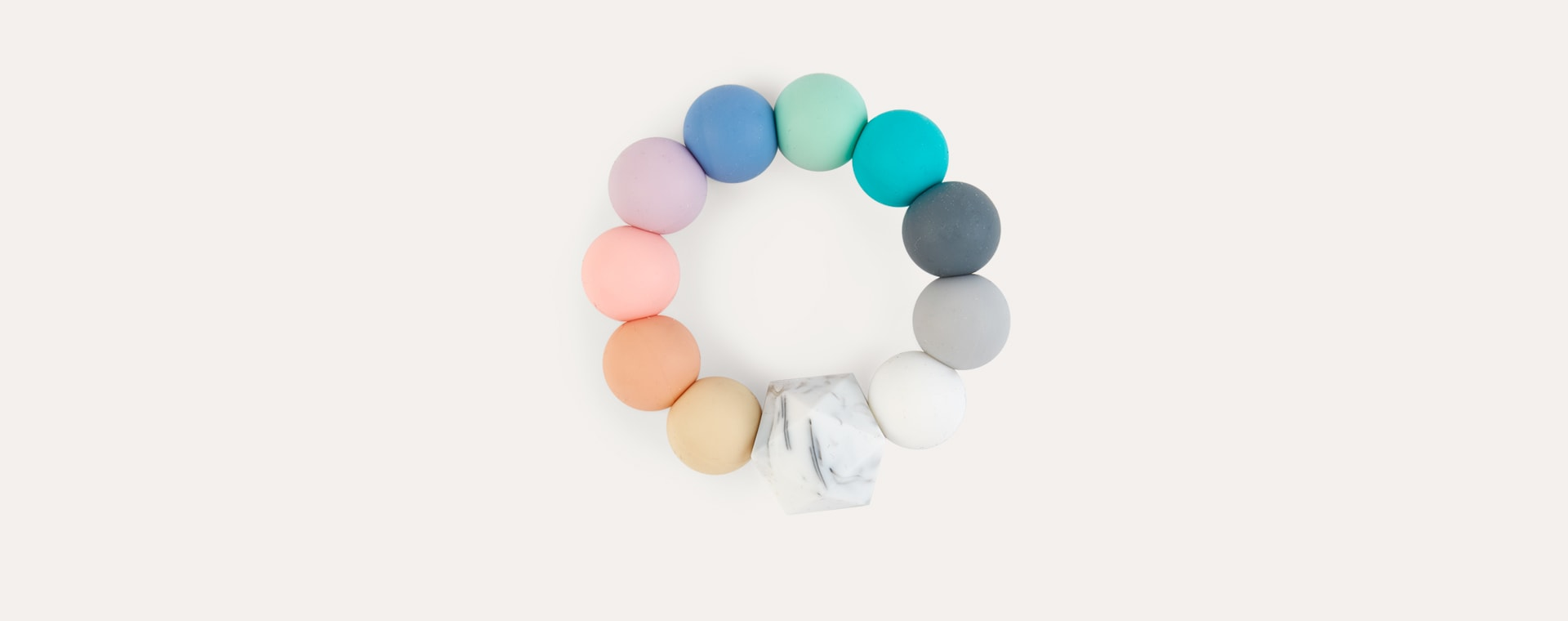 Bright Blossom & Bear Rainbow Teething Ring