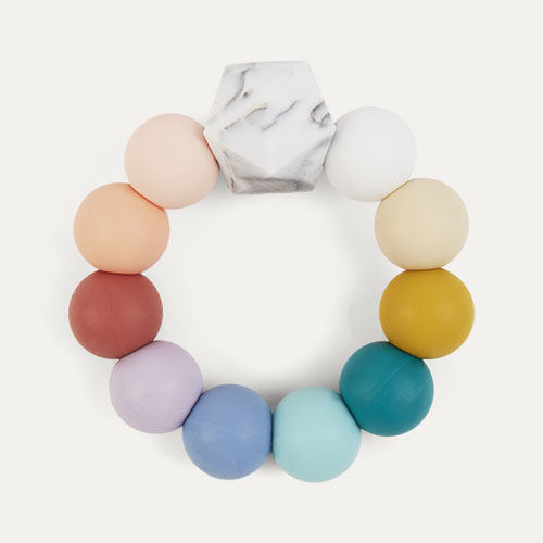 Bright Rainbow Blossom & Bear Rainbow Teething Ring
