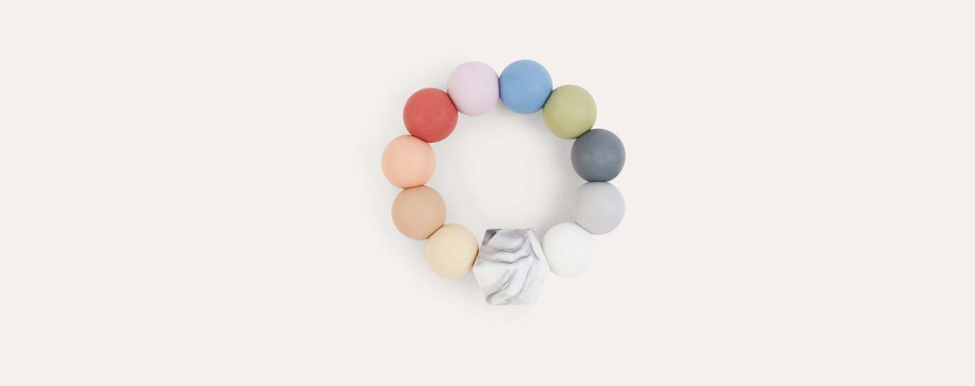 Rainbow Blossom & Bear Rainbow Teething Ring
